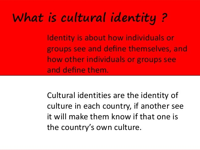 cultural identity and cultural rights The committee on economic, social and cultural rights has provided useful   national sovereignty and national identity tend to be considered of prime.