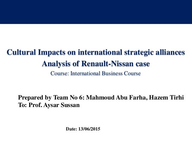 nissan case analysis Case study analysis: building a coalition aldranon english ii aldranon_englishii@yahoocom mgmt591­_68800_20150301 glenn palmer march 22, 2015 abstract this is an in-depth analysis of case study involving the woodson foundation.
