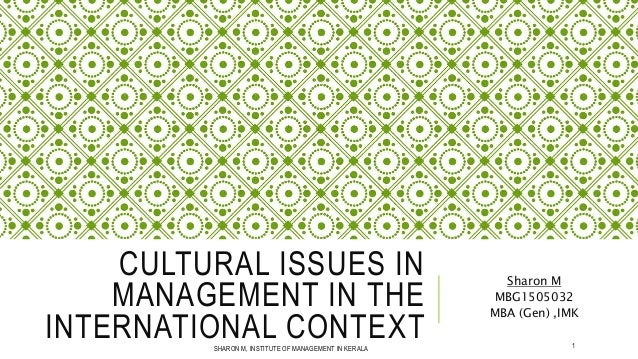 culture issues in management fijian Many questions and answers about cultural issues stereotypes, discrimination, differences among people submit questions-check back for on-line replies share experiences and ask for advice.