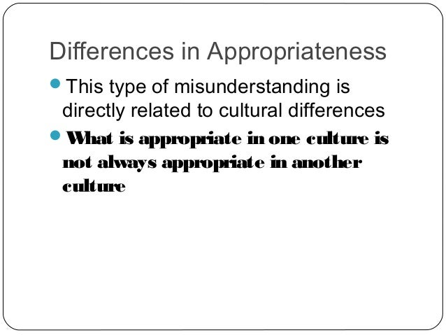 cultural misunderstanding Intercultural misunderstanding in south africa: an analysis of  intercultural misunderstanding, cultural differences, western culture, bereavement 1.