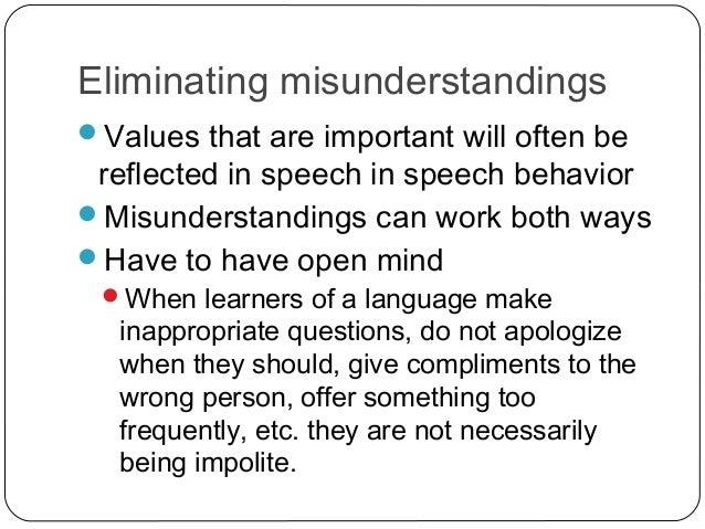 Significant misunderstanding