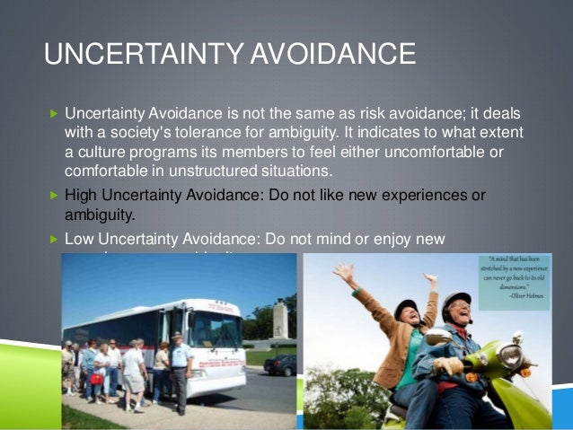 uncertainty avoidance notes Hofstede's consequences: the impact of his work  the author analyzes specific country websites and notes how they  belgium has an uncertainty avoidance.