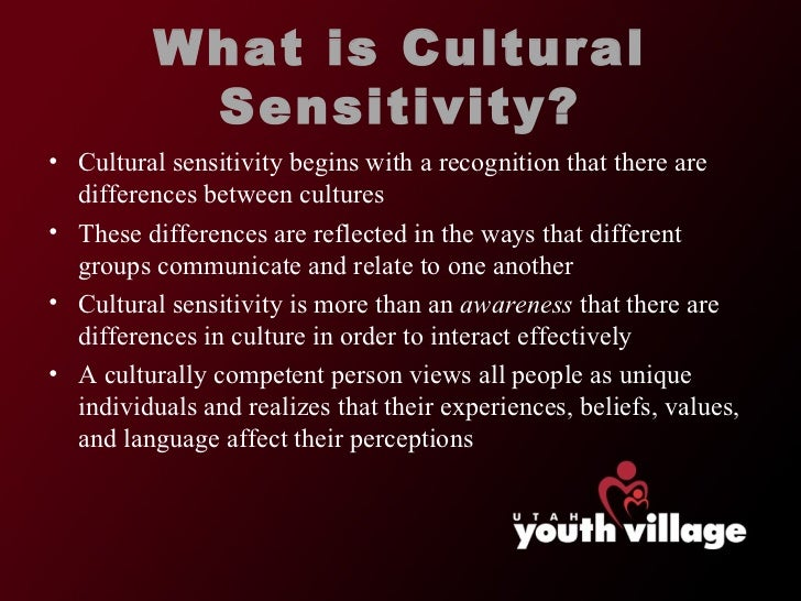 cultural sensitivity Cross-cultural healthcare research has grown exponentially in recent years, focusing primarily on the healthcare-related needs of ethnic and linguistic minorities however, by approaching cultural sensitivity from an ethnic/linguistic perspective, the practitioner runs the risk of relying on.