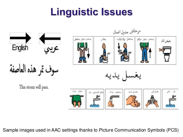 Arabic Symbol Dictionary For Aac Users Bridging The Cultural Social