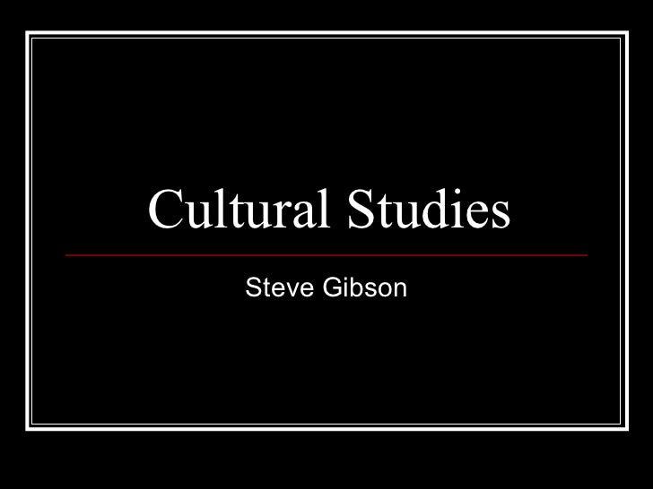 Cultural Studies Steve Gibson