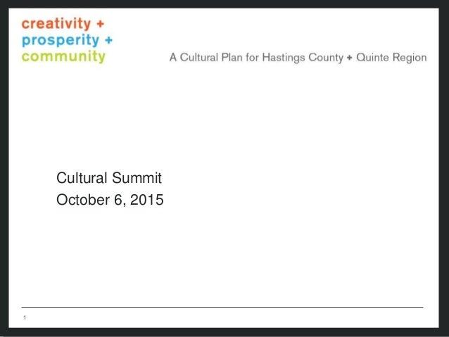 11  Cultural Summit October 6, 2015