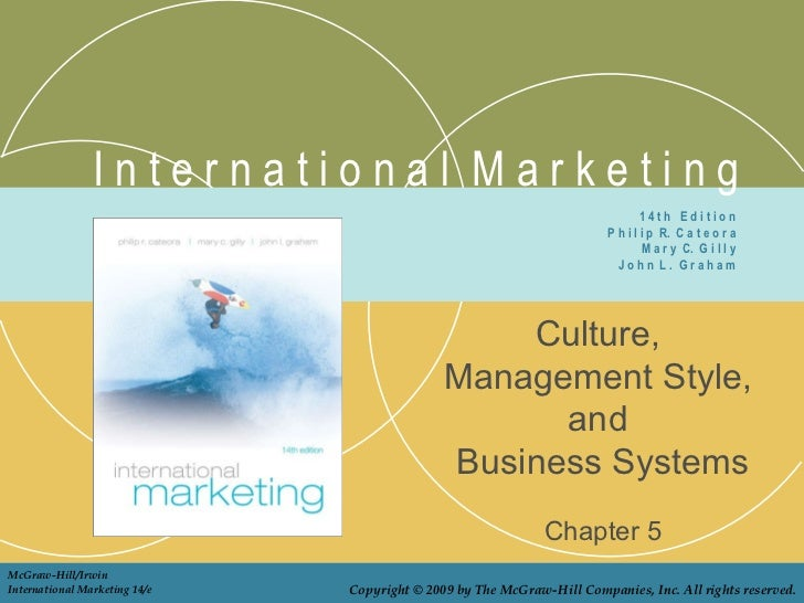 I n t e r n a t i o n a l  M a r k e t i n g Culture,  Management Style,  and  Business Systems Chapter 5 1 4 t h  E d i t...
