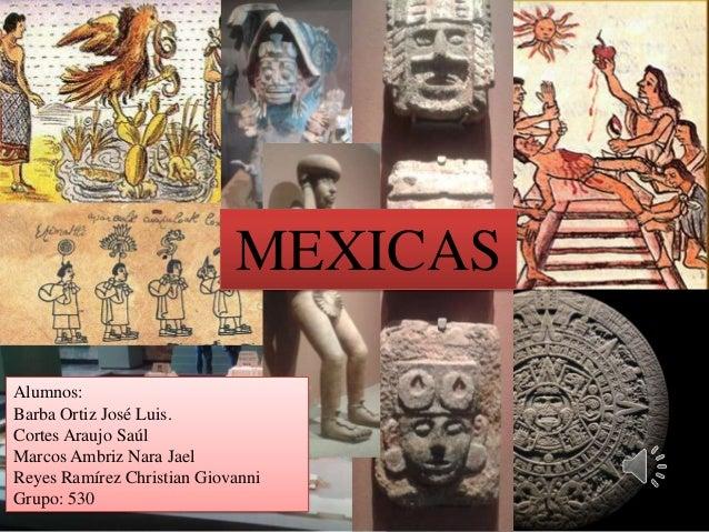 MEXICAS Alumnos: Barba Ortiz José Luis. Cortes Araujo Saúl Marcos Ambriz Nara Jael Reyes Ramírez Christian Giovanni Grupo:...