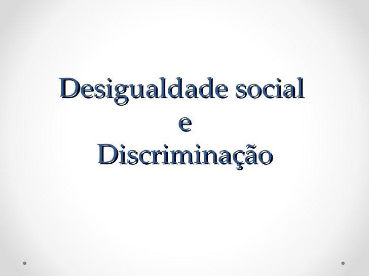DESIGUALDADE ÉTNICO-RACIAL  PESQUISA DO IPEA APONTA QUE BRASILEIROS MAIS               POBRES SÃO NEGROS       O Ipea (Ins...