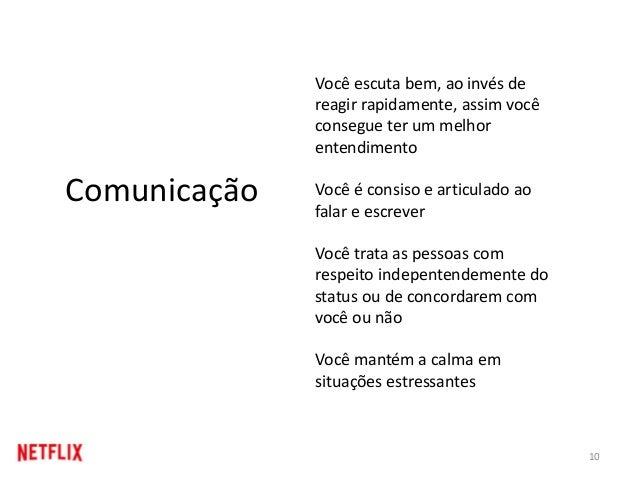 10 Comunicação Você escuta bem, ao invés de reagir rapidamente, assim você consegue ter um melhor entendimento Você é cons...