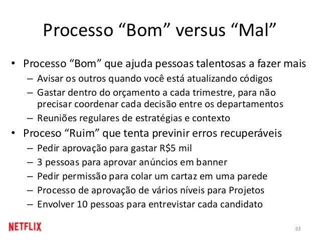 """Processo """"Bom"""" versus """"Mal"""" • Processo """"Bom"""" que ajuda pessoas talentosas a fazer mais – Avisar os outros quando você está..."""