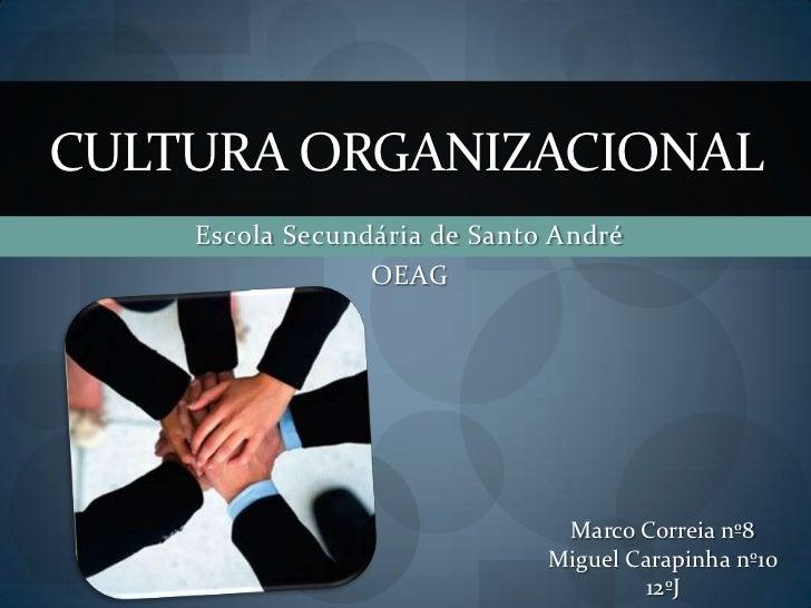 CULTURA ORGANIZACIONAL    Escola Secundária de Santo André                 OEAG                               Marco Correi...