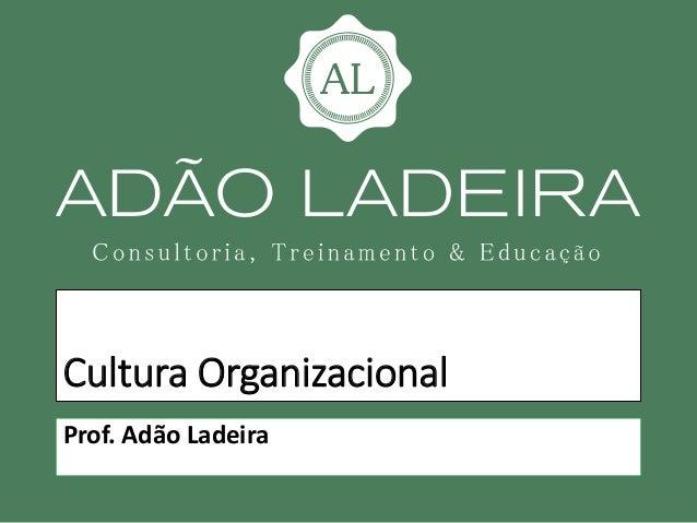 Cultura Organizacional Prof. Adão Ladeira
