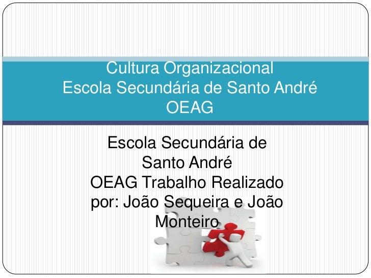 Cultura OrganizacionalEscola Secundária de Santo André             OEAG     Escola Secundária de          Santo André   OE...