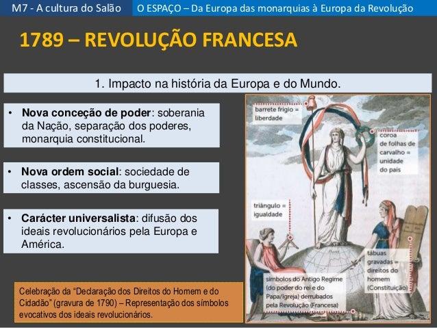 """M7 - A cultura do Salão 20 1789 – REVOLUÇÃO FRANCESA Celebração da """"Declaração dos Direitos do Homem e do Cidadão"""" (gravur..."""