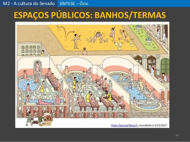SÍNTESE – Ócio 54 ESPAÇOS PÚBLICOS: BANHOS/TERMAS M2 - A cultura do Senado https://goo.gl/WpjvvS, consultado a 3/12/2017