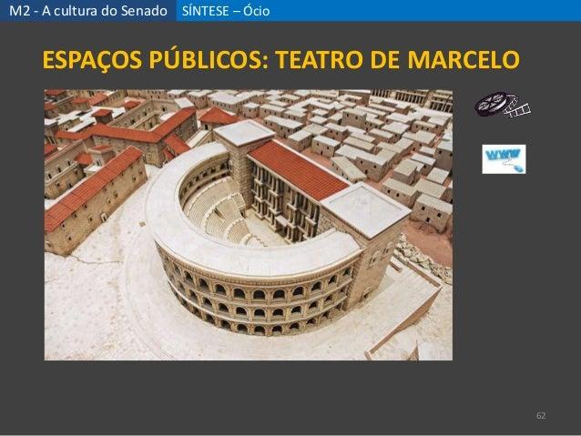 SÍNTESE – Ócio 62 ESPAÇOS PÚBLICOS: TEATRO DE MARCELO M2 - A cultura do Senado