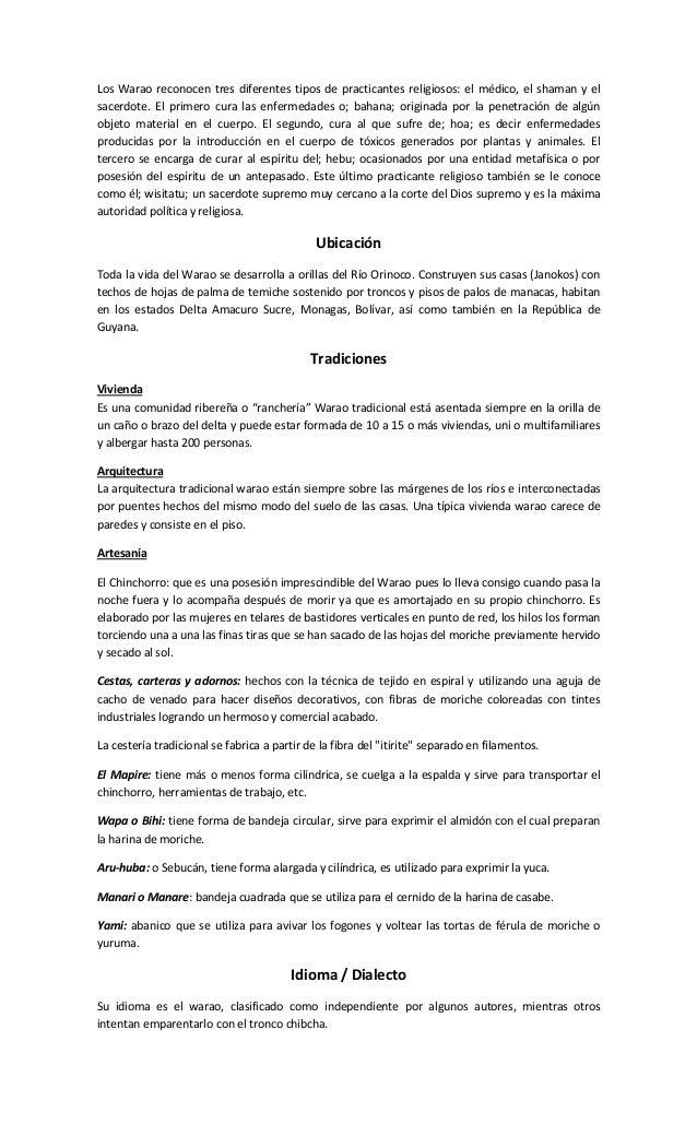 Culturas indgenas Venezolanas