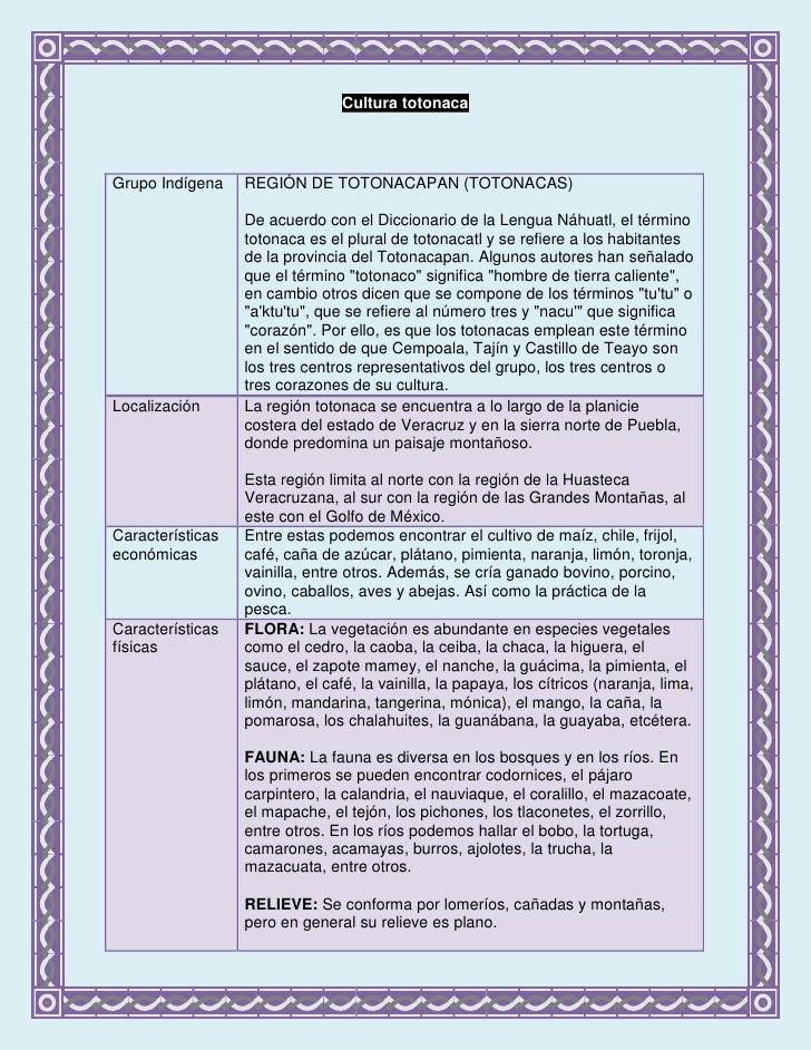Cultura totonaca<br />Grupo Indígena REGIÓN DE TOTONACAPAN (TOTONACAS) De acuerdo con el Diccionario de la Lengua Náhuatl,...