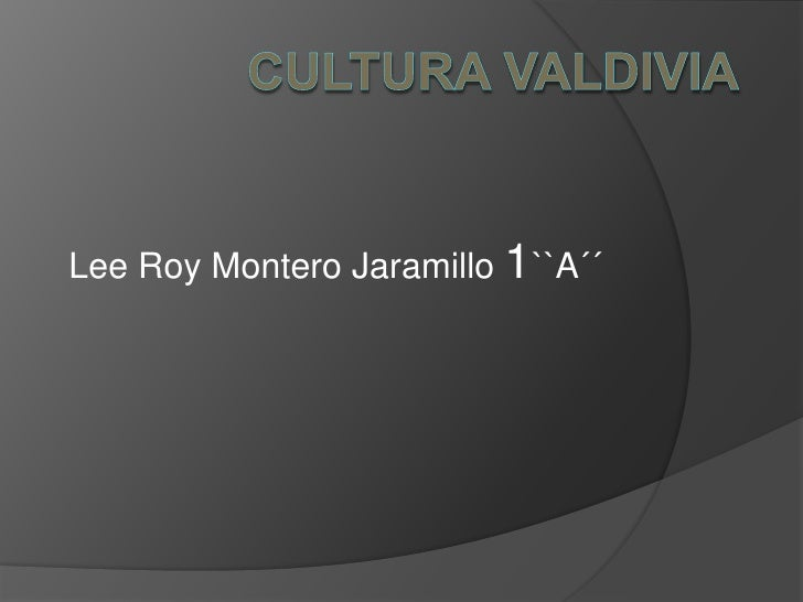 Lee Roy Montero Jaramillo 1``A´´