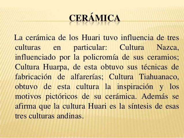 Cultura wari for Origen de la ceramica