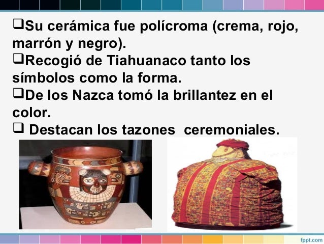 Cultura wari Definicion de ceramica