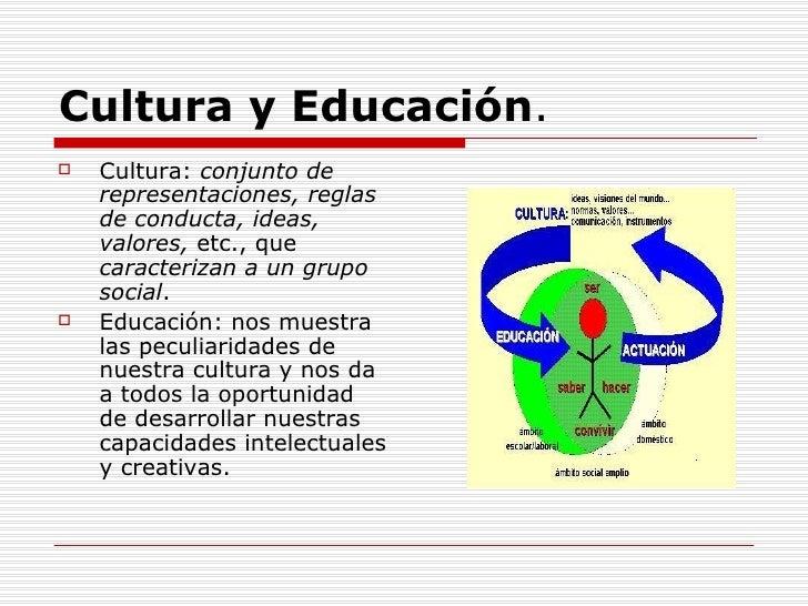 Resultado de imagen de EDUCACION Y CULTURA