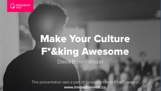 1 Make Your Culture