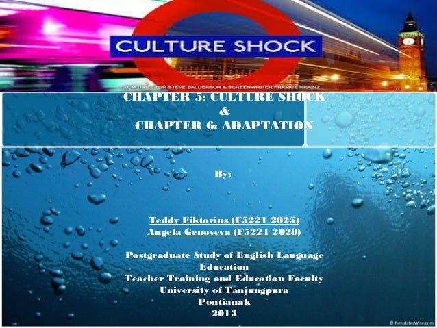 CHAPTER 5: CULTURE SHOCK & CHAPTER 6: ADAPTATION  By:   Teddy Fiktorius (F5221 2025) Angela Genoveva (F5221 2028) Postgrad...