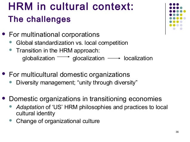 hrm cross culture differences Difference between domestic and ihrm:  • development of cross cultural management  international hr managers have to understand cultural differentiation in.