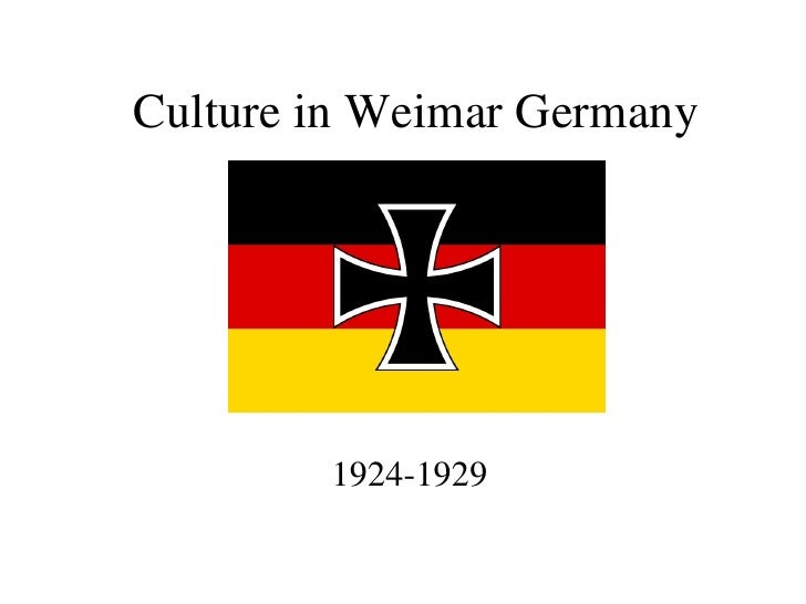 Culture in Weimar Germany 1924-1929