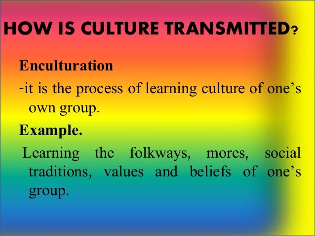 example of enculturation