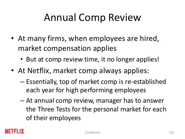 Annual Comp Review • At many firms, when employees are hired, market compensation applies • But at comp review time, it no...