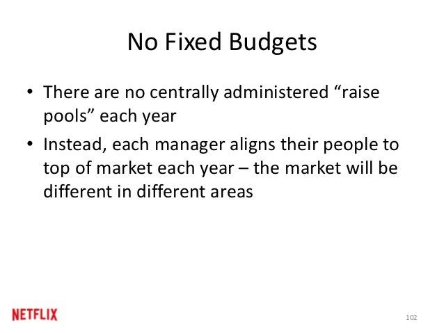 "No Fixed Budgets • There are no centrally administered ""raise pools"" each year • Instead, each manager aligns their people..."