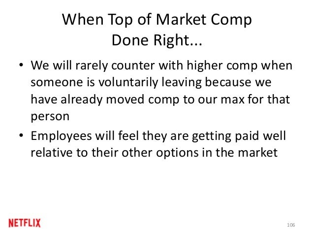 When Top of Market Comp Done Right... • We will rarely counter with higher comp when someone is voluntarily leaving becaus...