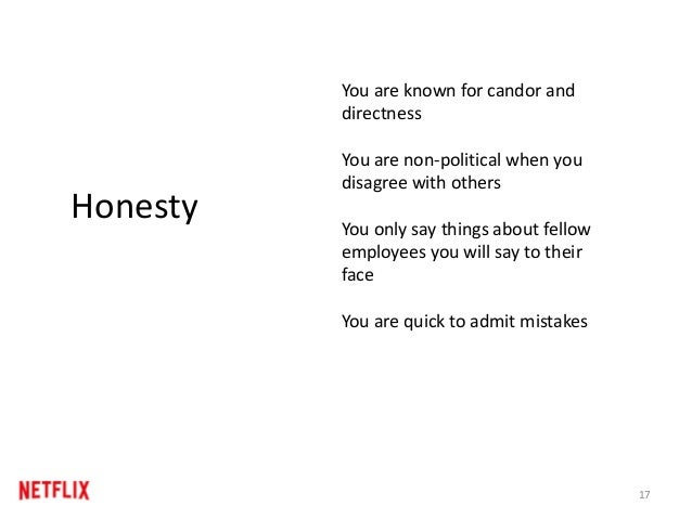 17 Honesty You are known for candor and directness You are non-political when you disagree with others You only say things...