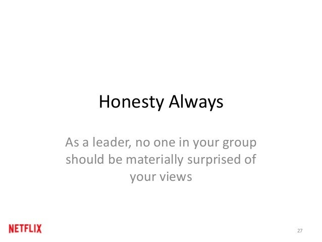 """Honesty Always Candor is not just a leader's responsibility, and you should periodically ask your manager: """"If I told you ..."""