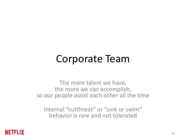 Corporate Team The more talent we have, the more we can accomplish, so our people assist each other all the time Internal ...