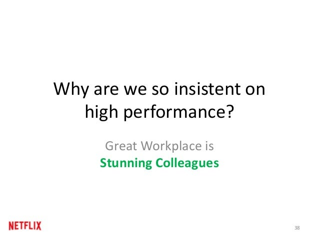 Why are we so insistent on high performance? Great Workplace is Stunning Colleagues 38