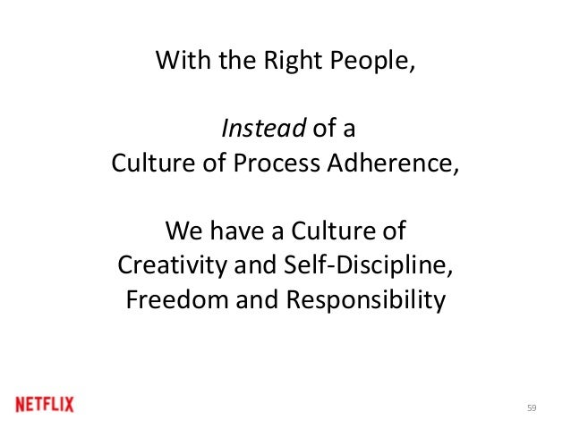With the Right People, Instead of a Culture of Process Adherence, We have a Culture of Creativity and Self-Discipline, Fre...