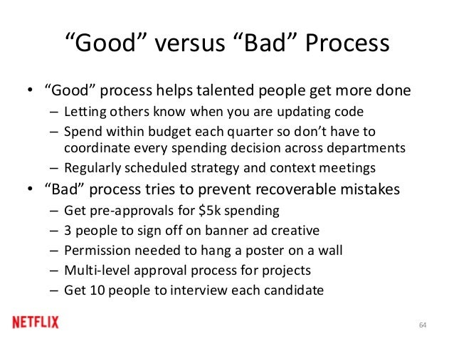 """Good"" versus ""Bad"" Process • ""Good"" process helps talented people get more done – Letting others know when you are updati..."