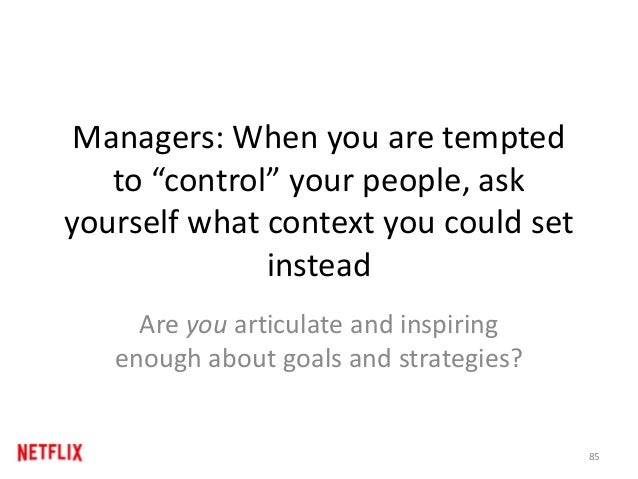 "Managers: When you are tempted to ""control"" your people, ask yourself what context you could set instead Are you articulat..."