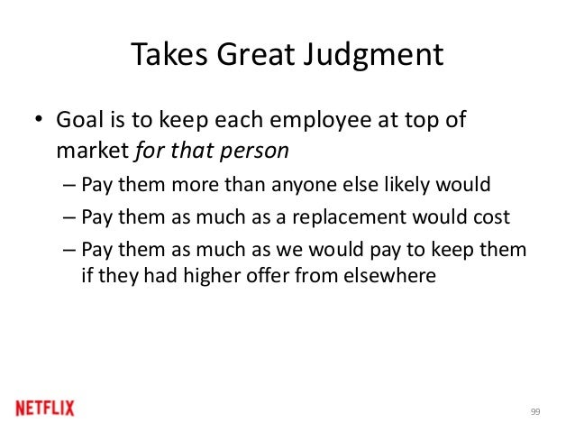 Takes Great Judgment • Goal is to keep each employee at top of market for that person – Pay them more than anyone else lik...