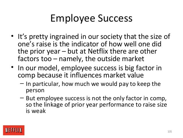 Employee Success • It's pretty ingrained in our society that the size of one's raise is the indicator of how well one did ...