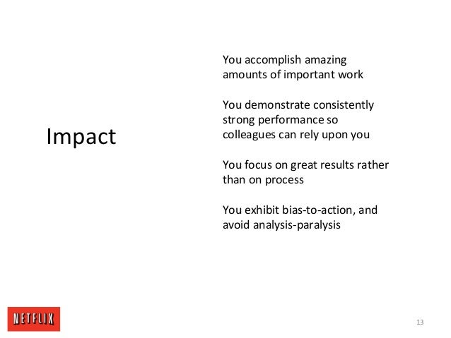 13 Impact You accomplish amazing amounts of important work You demonstrate consistently strong performance so colleagues c...