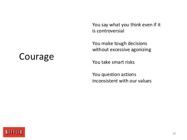 16 Courage You say what you think even if it is controversial You make tough decisions without excessive agonizing You tak...