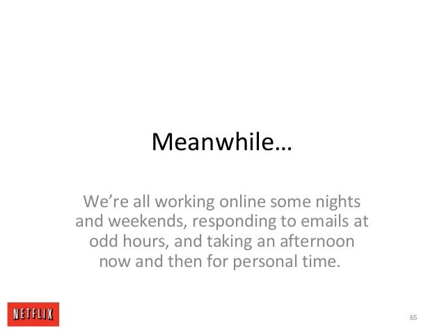 Meanwhile… We're all working online some nights and weekends, responding to emails at odd hours, and taking an afternoon n...
