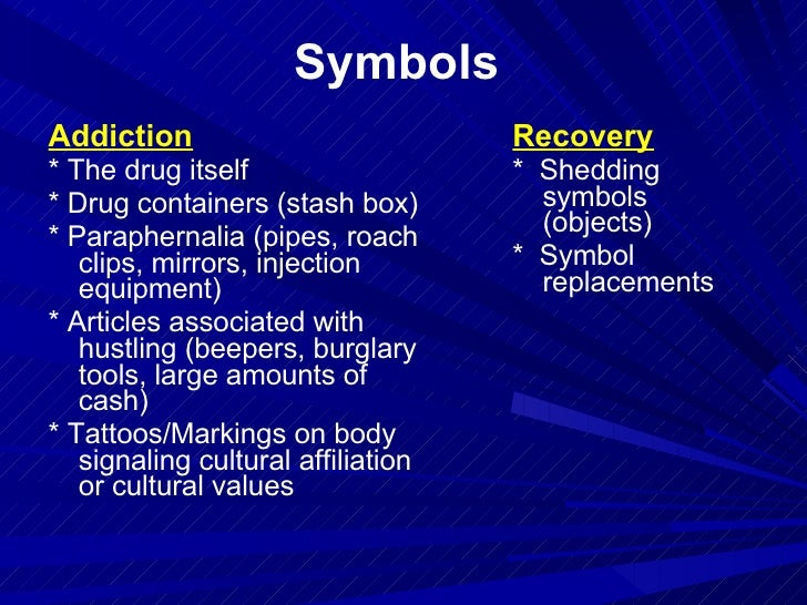 the culture of addiction and the culture of recoverysymbols