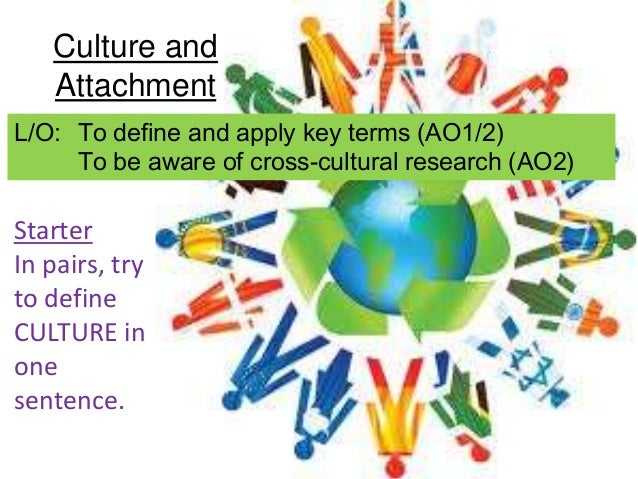 Culture and   AttachmentL/O: To define and apply key terms (AO1/2)     To be aware of cross-cultural research (AO2)Starter...