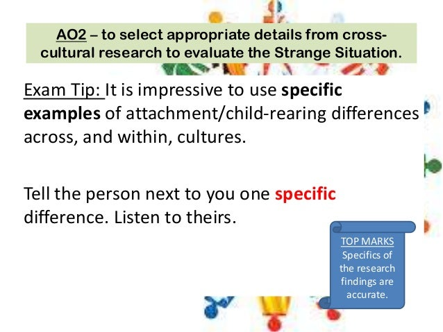 outline and evaluate types of attachment Mary ainsworth's (1971,  this suggests that there are other reasons which may better explain why children develop different attachment types and that the maternal .